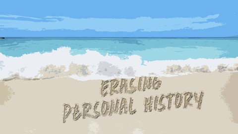Ocean washing away a Person's Personal History