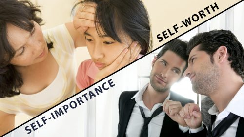 The Contrast Between Self Worth and Self Importance