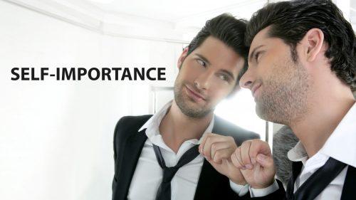 Man Admiring Himself