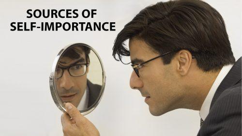 Man Admiring Himself in Mirror